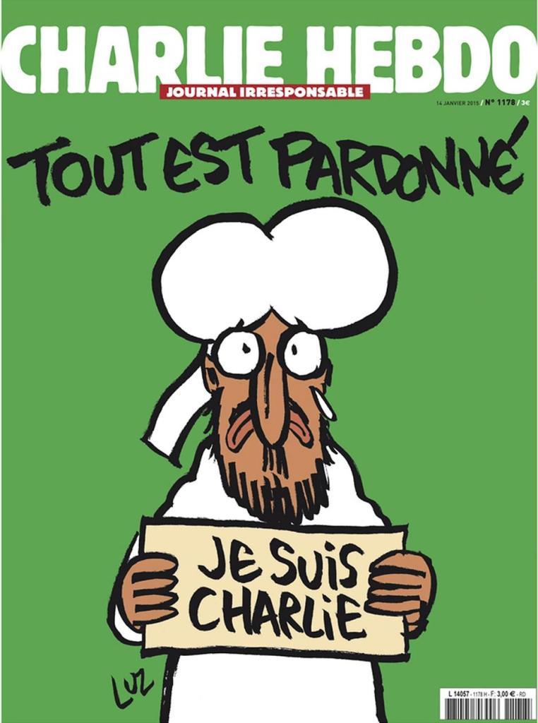 Titelseite Charlie Hebdo vom 14. Januar 2015