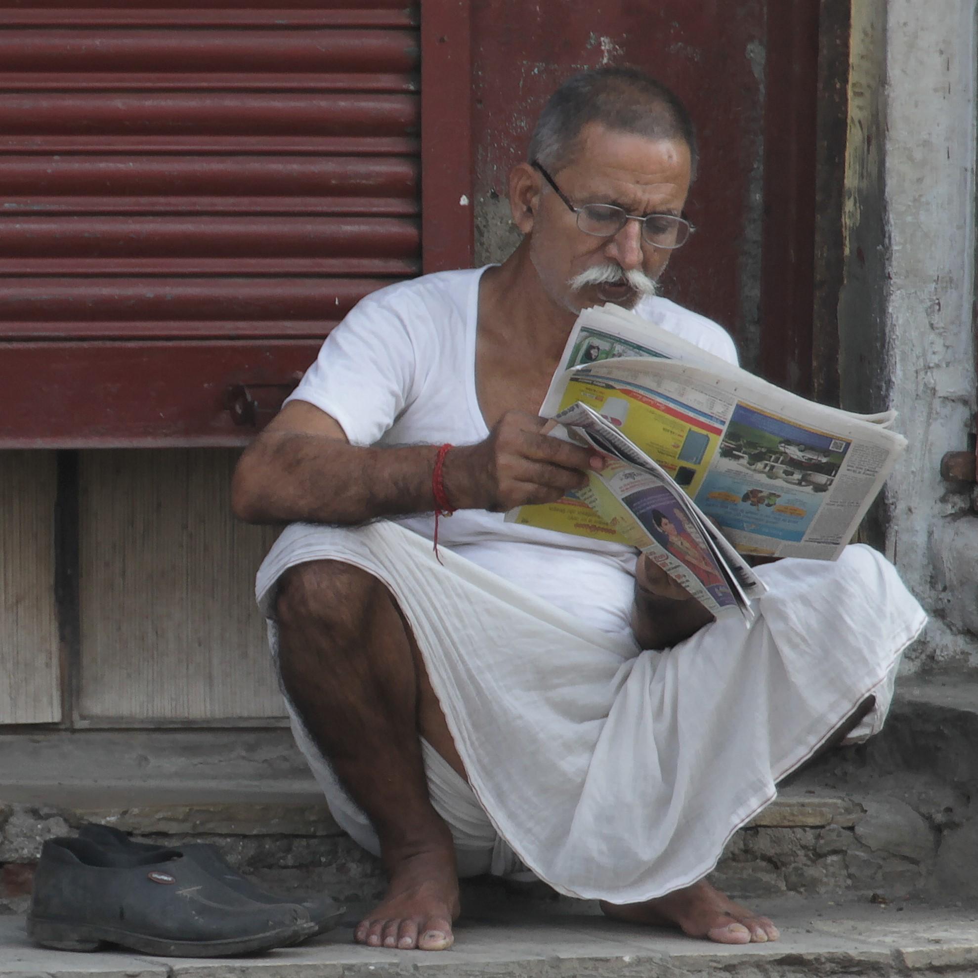 newspaper in the slum