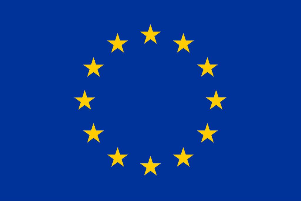 Europa - die Europäische Union zeigt ihre Einheit durch Ihre Flagge - Sterne im geschlossenen Kreis!